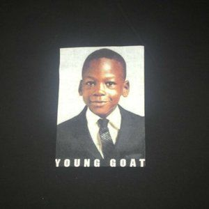 Young GOAT Michael Jordan Men's XL Black Tshirt